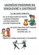 Ukončení prázdnin na Sokolovně v Chotíkově